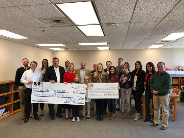 The 100's of Women and Men Who Care of Lincoln donate $25,000 to We Care